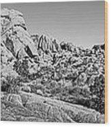 Jumbo Rocks Bw Wood Print