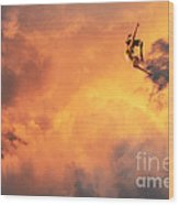 'jump Into The Fire' Wood Print