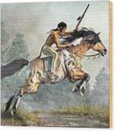 Jumping Horse Wood Print