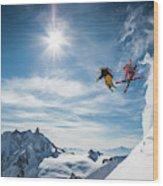 Jumping Legends Wood Print