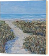 June Beach Hilton Head Wood Print
