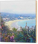 June Gloom Morning At Laguna Beach Coast Wood Print