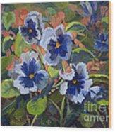 June In The Garden Wood Print