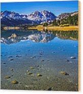 June Lake California Wood Print by Scott McGuire