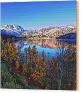 June Lake California Sunrise Wood Print