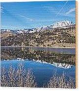 June Lake Reflections Wood Print