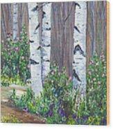June Roses Wood Print