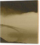 Juneau - Douglas Bridge Wood Print