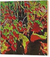 Jungle Abstract Wood Print