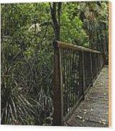 Jungle Bridge Wood Print