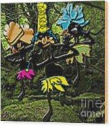 Jungle Dancers Wood Print