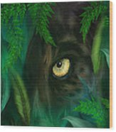 Jungle Eyes - Panther Wood Print