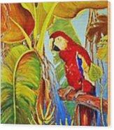 Jungle Flame Wood Print