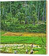 Jungle Homestead - Paint  Wood Print