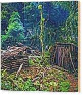 Jungle Homestead Wood Print