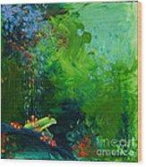 Jungle Rains I Wood Print by Tracy L Teeter