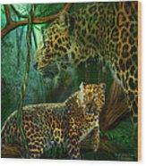 Jungle Spirit - Leopard Wood Print