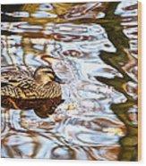 Jungle Water Wood Print