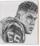 Junior Seau Wood Print by Don Medina