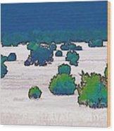 Juniper Field Wood Print
