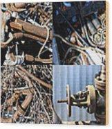 Junk Collage  Wood Print