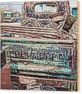 Junk Or Treasure Wood Print