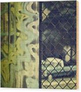 Junk Yard Wood Print