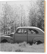 Junked Ford Car Wood Print