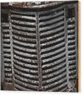 Junkyard Charm Wood Print