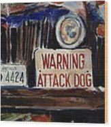 Junkyard Dog Wood Print