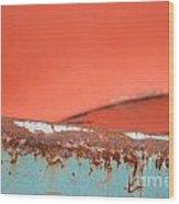 Junkyard Horizon Wood Print