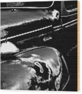 Junkyard Series Old Plymouth Black And White Wood Print