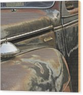 Junkyard Series Old Plymouth Wood Print