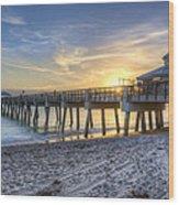 Juno Beach Pier At Dawn Wood Print