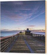 Juno Beach Pier Wood Print