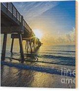 Juno Beach Sunrise Wood Print