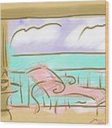 Jupiter Balcony Wood Print