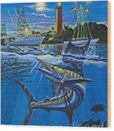Jupiter Boat Parade Wood Print