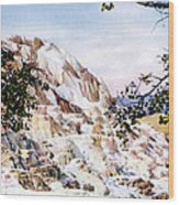 Jupiter Terrace Yellowstone Np Wood Print