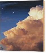 Jupiter's Stormy Sunset Wood Print by Tharsis Artworks