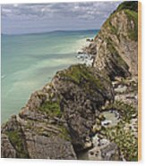 Jurassic Coast From Lulworth Cove Wood Print