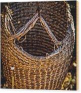 Just A Basket Wood Print