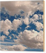 Just A Face In The Clouds Wood Print