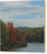 Just A Touch Of Fall Wood Print by Judy  Waller