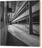 Just Another Side Alley Wood Print by Bob Orsillo