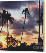 Just Another Sunrise In Paradise Wood Print