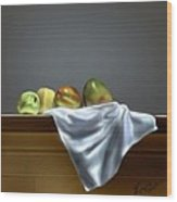Just Apples And Mangos  Wood Print