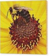 Just Bee Wood Print