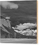 Just Before Banff Wood Print
