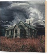 Just Before The Storm Wood Print by Aimelle